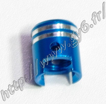 blue anodized aluminium valve cap (piston shape)