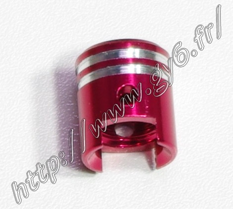 read anodized aluminium valve cap (piston shape) .