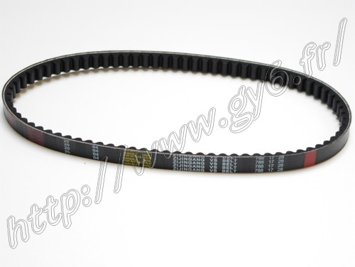 cvt belt 788-17-28 from zijingang for chinese scooters 50cc 4 stroke