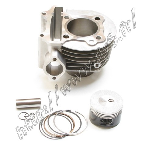 cylinder kit  125cc of high quality  , complete, with cylinder, piston, rings, piston pin, clips... of superior quality