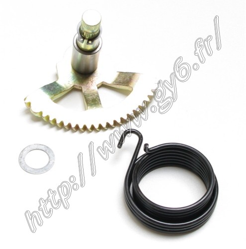 kick axis, friction spindle, bushing, clip.
