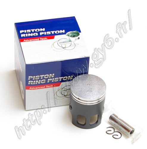 piston kit coated with molybdenum disulfide 50CC 2 stroke 10mm piston pin, with piston pin and clips but not piston pin