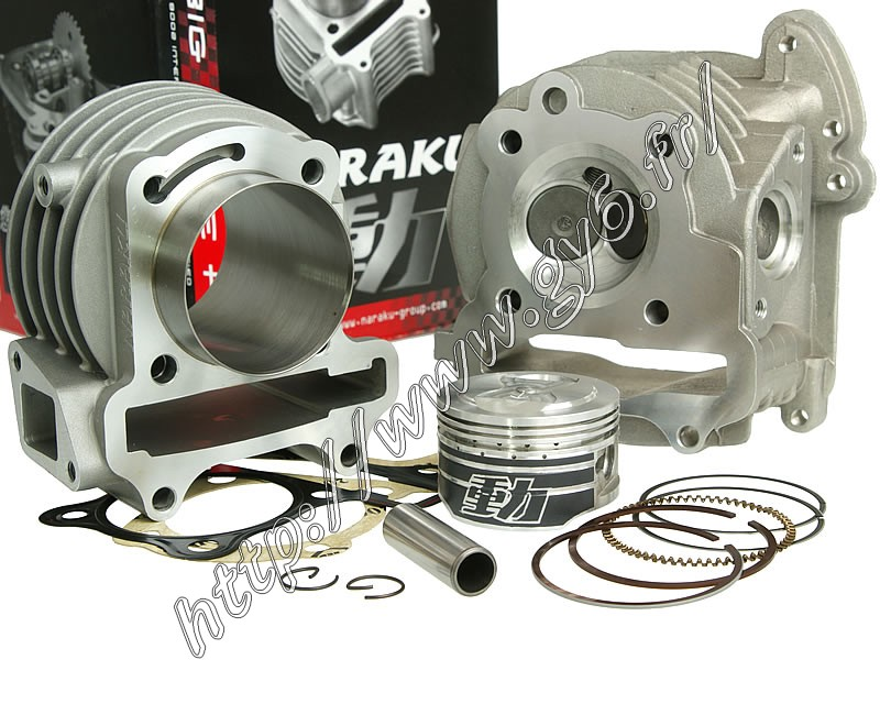 cylinder kit and cylinder head  90cc Naraku v2