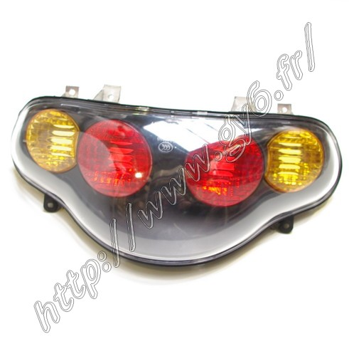 complete tail light without harness and bulbs  for  Jonway GT 125, Aztral, JS120, YY125T and similar .