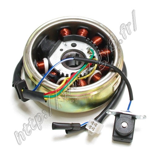 complete alternator (rotor and stator 11 coils)
