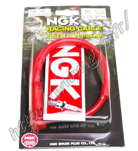 high tension ignition cable and competition spark plug cap   NGK CR2.