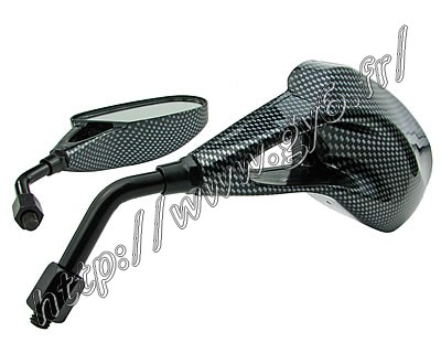 carbon sport rear view mirrors (m8 thread clockwise))