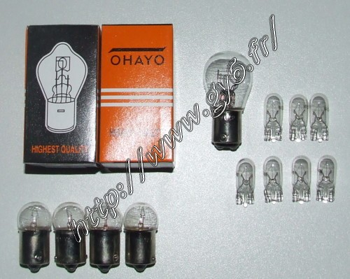 bulbs set (6 models 14 bulbs)